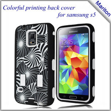 High Quality Galaxy S5 3 in 1 Silicon With Plastic Case For Samsung i9600