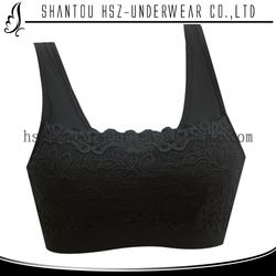 2015 Fashion design women sexy nude bra sexy women beautiful lace bra fitness wear for women yoga sports bra B9986