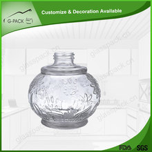 Decorative fashion heat resistant glass candle holder