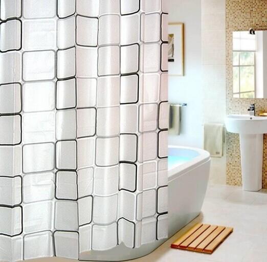 Cortinas De Baño Largas:Nuevos modernos Cortinas de bano ducha extra larga con ganchos 180 x