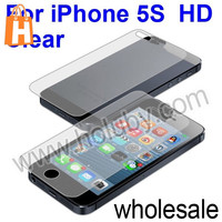 Front and Back High Definition HD Clear Film Guard Screen Protector For iPhone 5 5S, For iPhone 5 5S Screen Protector