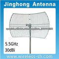 5GHz 30dBi Antena parabólica rejilla