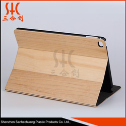 Original real wood Leather Bamboo Wood case For Ipad