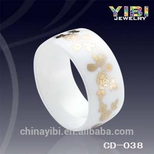 10mm di larghezza anello in ceramica bianca, moda e caldo gioielli anello