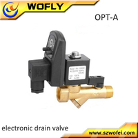 OPT-A Y type timer IP65 air compressor solenoid drain valve 24v