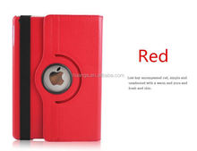 Fashion 360 Rotation stand With Automatic Sleep & Wake up flip leather cover case for ipad air alibaba china