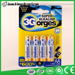 Made In China Factory Directly Provide Best Sale 1.5V Alkaline Battery Aa/Lr6/Am3 1.5V Alkaline