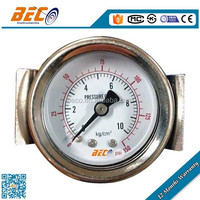 High quality panel mounting pressure gauge with u clamp