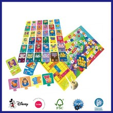 Rfid Funny Facny Printing Cartoon Children Art Paper Game Memory Cards