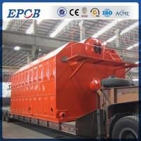 Steam output, PLC Control box, industrial automatic feeding wood boiler