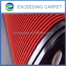 Ribbed alfombra mat with pvc backing