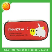 PU clear large capacity custom printed pencil case with compartments