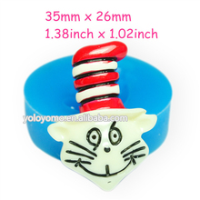 JYL126 Clown Cat Silicone Mold - Sugarcraft Food Safe Polymer Clay Wax Candles Fimo Clay Fudge Jewelry Mold