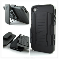 Shockproof Armor Rugged Combo Belt Clip Holster Stand Case For iphone 4 4s