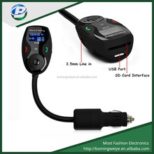 New SD/usb /line in bluetooth handsfree car mp3 player fm transmitter with a microphone