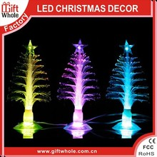 "Low price super popular mini 3"" USB christmas tree 2015 fiber optic tree"