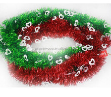 Wholesale Halloween PVC Colourful Tinsel garland with heart flower