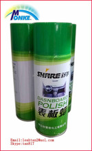 car dashboard polish with 400ml can from zhongshan