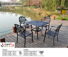 Hot sale all weather rust free cast aluminum outdoor patio furniture