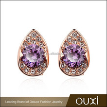 2015 OUXI factory price women guangzhou fashion jewellery made with AAA zircon