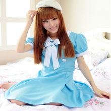Hot Sale Alice Dress Lolita Dress Maid Cosplay Fantasia Carnival Halloween Costumes Fit Women Plus Size