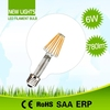 High cost performance dimmable led filament bulbs b22 g125 with 2years warranty