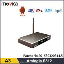 Original amlogic s812 xbmc kodi 14.2 quad core android tv box
