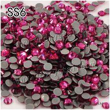 #2058HF SS6 rose 1440pcs heat iron on High Quality Hot Fix Glue on crystals hotfix Rhinestones