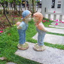 personalizada de fábrica al por mayor de resina para niños de jardín estatua