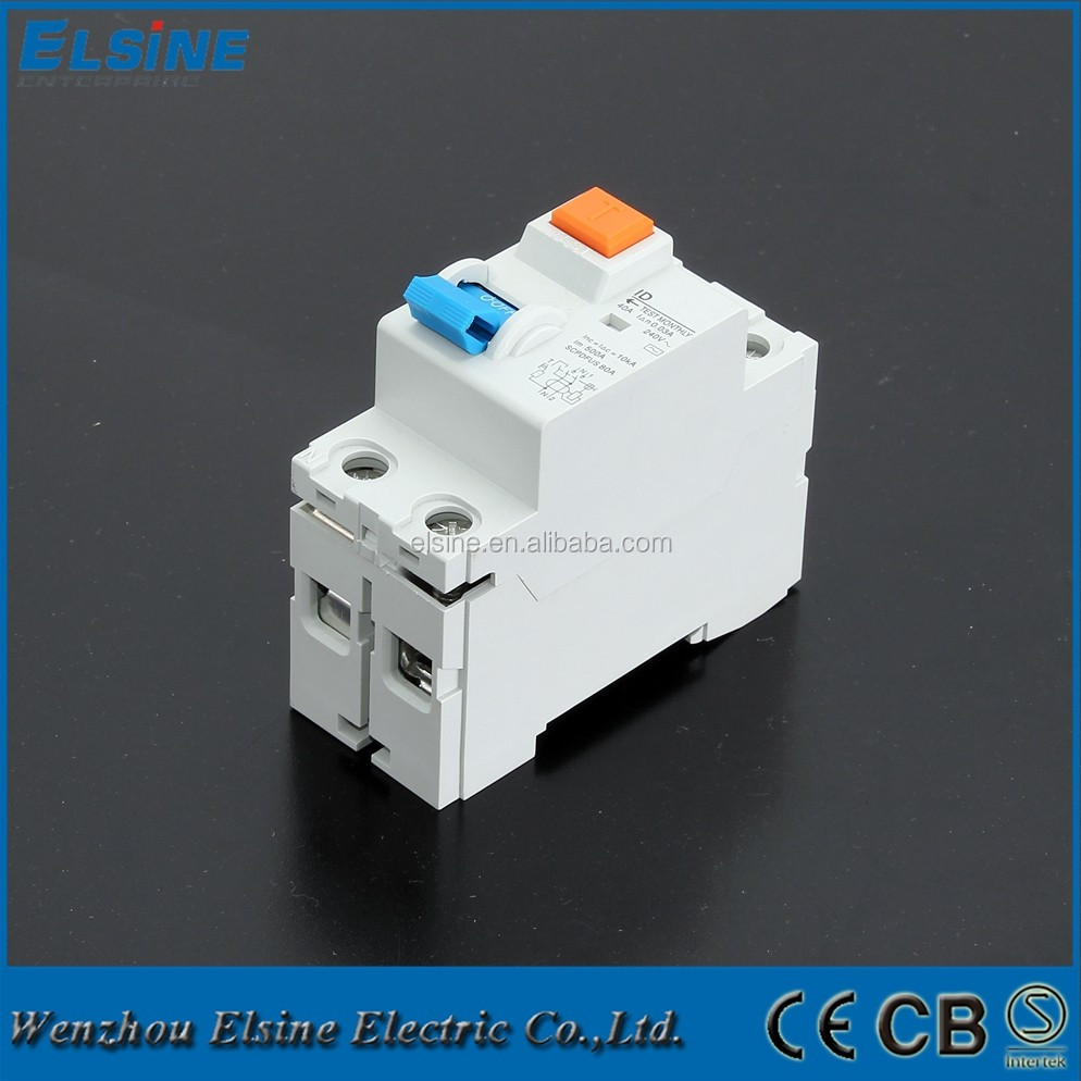 2 Pole Id Model 16a 63a 230 400v Ac Rccb Elcb Rcd Earth Leakage Operator For A Circuit On Wiring Diagram Of Vacuum Breaker Residual Current Breakers