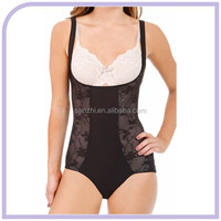 Sexy Shapewear Compression Padded Hidden Bra Briefer Bodysuit Slim Smooth Body Shaper Lingerie And Thong