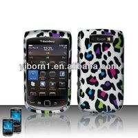 Rubberized Colorful Leopard Hard Case Cover for Blackberry Torch 9800