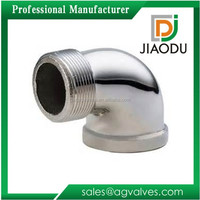 Custom Made chrome plated High efficiency Bathroom flanged brass fittings connector 2 (two)way elbow pipe fittings 90 degree