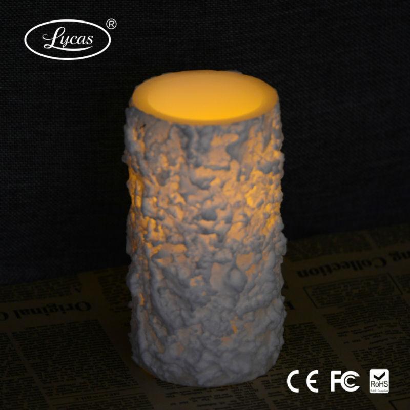 Hot Sale White Snow Wax Led Pillar Candle - Buy Pillar Candle,Led ...