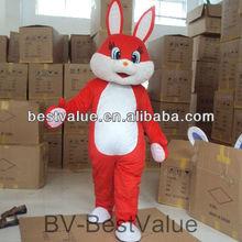 adult new design red rabbit rabbits cartoon mascot costume promotion rabbit mascot