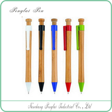 2015 Novelty and Bamboo Material promotional thick ballpoint pens