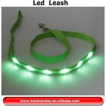 Rainbow lighting LED dog leash/led dog collar and leash made in china