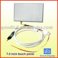 4 wire 7 inch resistive touch panel for 7 inch touch monitor