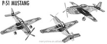 Star War DI02-11 Educational Toys P-51 Mustang 3D Puzzle Metal Magnetic 3d jigsaw puzzles for adults and Children