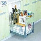 Tempero multifunções cesta do armazenamento/cozinha armazenamento racks/açoinoxidável cozinha escorredor de pratos