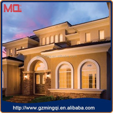 Casement type design plastic arch window with grill