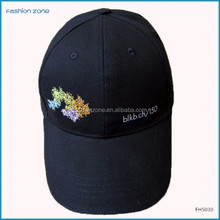 100% cotton material and embroidered pattern baseball man hat and cap