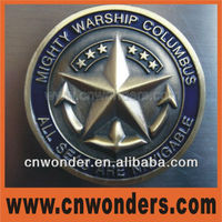 2014 hot selling 3D metal souvenir coin