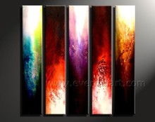 Handmade Modern wall art Group 5 pieces abstract canvas oil painting