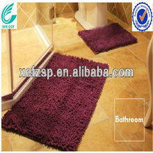 purple washable microfiber wall to wall bathroom carpet