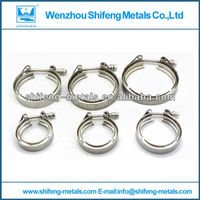 stainless steel exhaust pipe muffler clamp