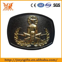 Man Style and Alloy Material solid brass military belt buckles