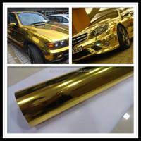 car gold wrap wrapping foil gold Chrome Car Vinyl Foil Car Body Wrapping Foil