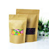 stand up kraft paper bags with window