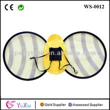 venta al por mayor de halloween amarillo bumble bee alas para las niñas